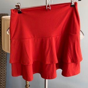 Susana Monaco burnt orange mini skirt size small